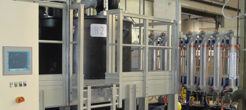 Commercial electrowinning plant