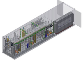 Container protects engineering area and UV-reactors