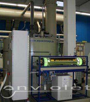 recyclage du bain de cuivre avec oxydation UV