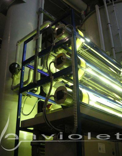 Trattamento delle acque reflue ZnNi mediante UV / H2O2