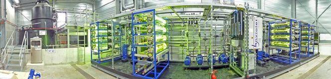 Photo oxidation plant for API-elimination