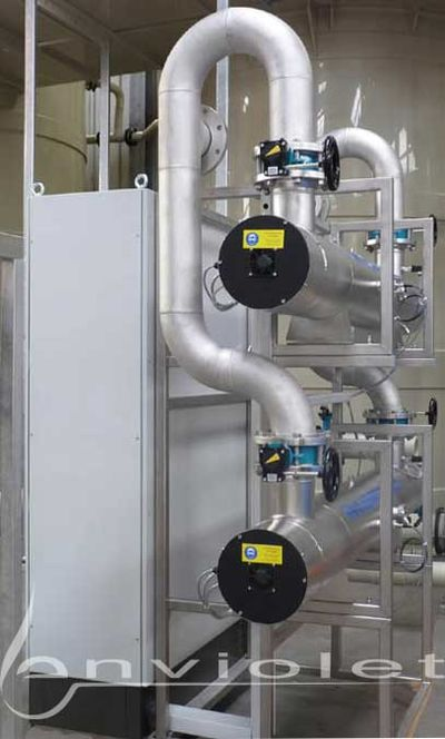 UV reactor for the elimination of microorganisms