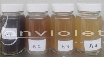 Recognizable change of highly polluted wastewater due to UV oxidation