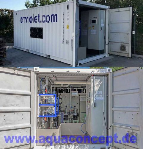 Rental container for Advanced Oxidation applications