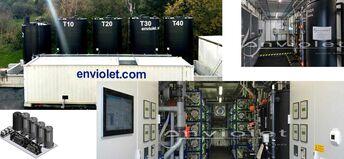 Advanced uv-oxidation plant for COD-elimination
