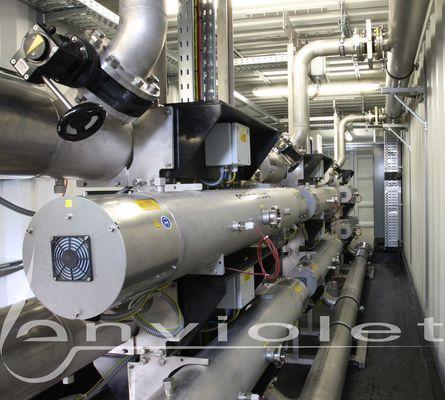 UV-desinfectiereactor klaar gemonteerd als container installatie